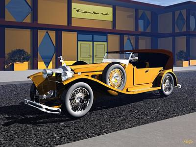 Digital Art - Packard by John Pangia