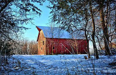 Photograph - Packard Red Barn by Bonfire Photography