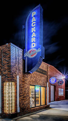 Photograph - Packard Sign by Susan Rissi Tregoning