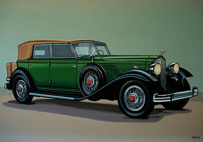 Painting - Packard Twelve Phaeton 1934 Painting by Paul Meijering