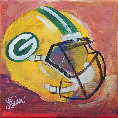 Packer Helmet Art Print by Terri Einer
