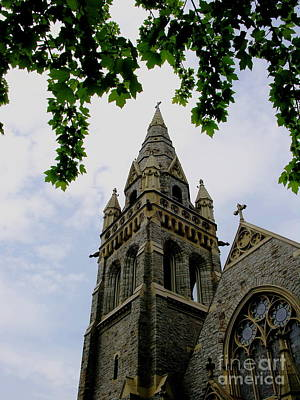 Photograph - Packer Memorial Church Tower by Jacqueline M Lewis