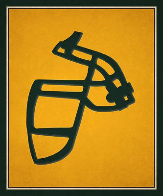 Packers Face Mask Art Print by Joe Hamilton