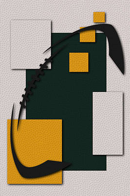 Packers Football Art Art Print by Joe Hamilton