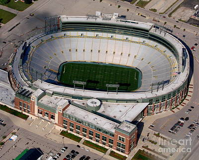 Packers Lambeau Field Art Print by Bill Lang