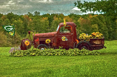 Packers Plow Art Print by Trey Foerster