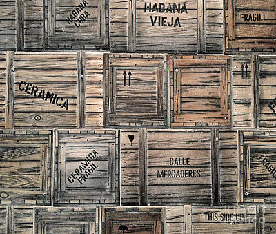 Photograph - Packing Crates Mural by Ethna Gillespie
