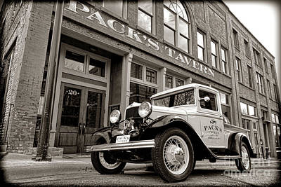 Asheville Wall Art - Photograph - Pack's Tavern Nostalgia by Olivier Le Queinec