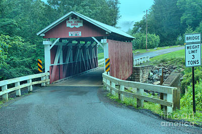 Photograph - Packsaddle Covered Bridge by Adam Jewell