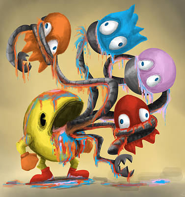 Pacman's Revenge Art Print by Ericka  Gemal