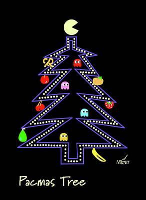 Digital Art - Pacmas Tree by Mike Martinet