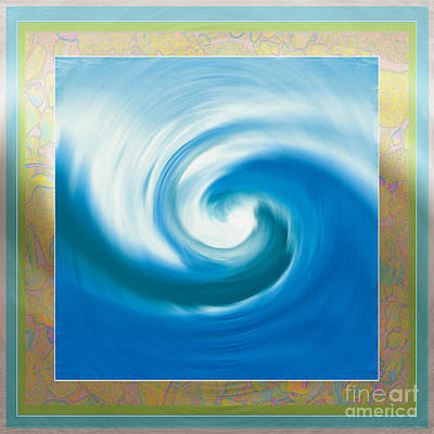 Pacswirl With Border Art Print