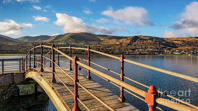 Photograph - Padarn Lake Footbridge by Adrian Evans
