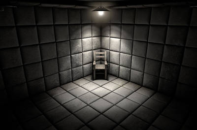 Soft Grunge Digital Art - Padded Cell And Empty Chair by Allan Swart