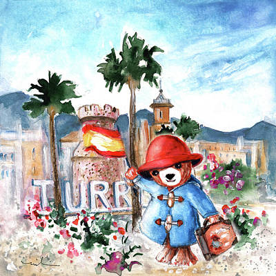 Waving Flag Drawing - Paddington Arrival In Spain by Miki De Goodaboom