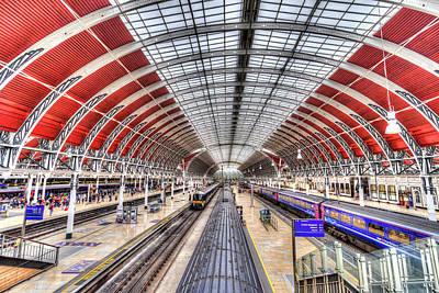 Photograph - Paddington Railway Station London by David Pyatt
