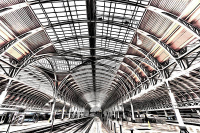 Photograph - Paddington Station Art by David Pyatt