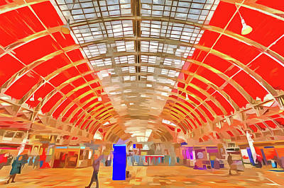 Photograph - Paddington Station London Pop Art by David Pyatt