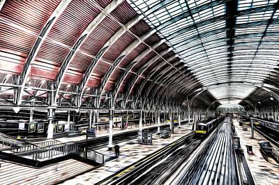 Photograph - Paddington Station London Sketch by David Pyatt