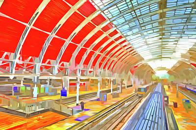 Photograph - Paddington Station Pop Art by David Pyatt