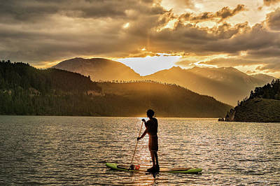 Photograph - Paddle Boarder In Summit Cove by Stephen Johnson
