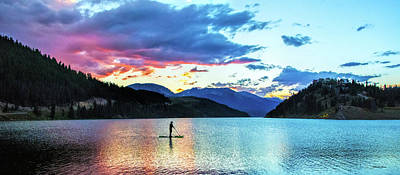 Photograph - Paddle Boarder On Lake Dillon by Stephen Johnson