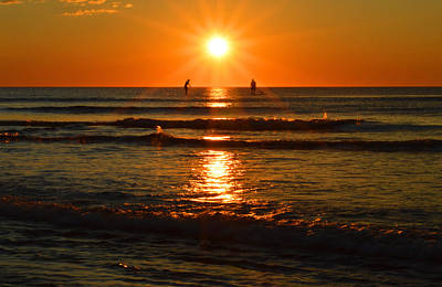 Undertow Photograph - Paddle Boarding At Sunrise by Dianne Cowen