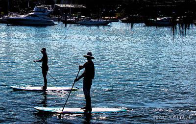 Paddle Boarding In The Marina Art Print by Susan Vineyard