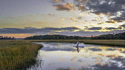 Photograph - Paddle Boarding On Simpson Creek by Rob Sellers
