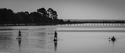 Photograph - Paddle Boarding Silhouettes  by Debra Forand