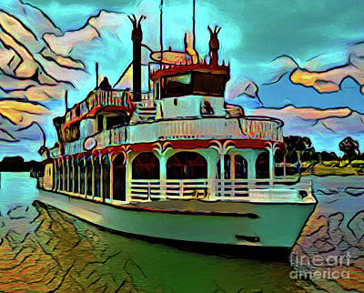 Photograph - Paddle Steamer 17018 by Ray Shrewsberry