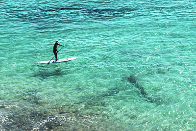 Photograph - Paddle The Aqua Sea by Brett Christensen