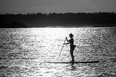 Photograph - Paddleboarder - Masonboro Inlet Nc by Dana Sohr