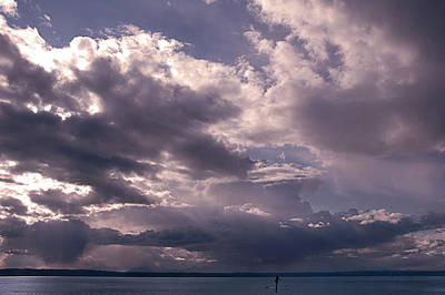Photograph - Paddleboarder On Puget Sound by Jeff Burgess