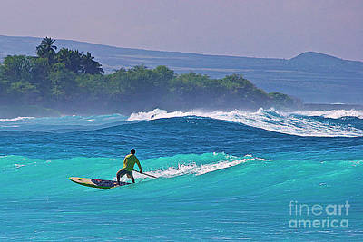 Paddleboarder Rides The Outside Break Art Print