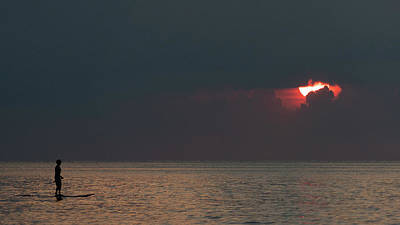 Photograph - Paddleboarder Sunrise Delray Beach Florida by Lawrence S Richardson Jr