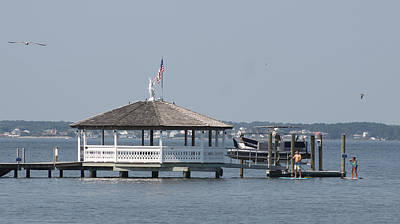 Photograph - Paddleboarding Around The Fagers Island Gazebo by Robert Banach
