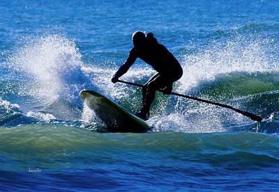 Topsail Island Photograph - Paddleboarding by Betsy Knapp