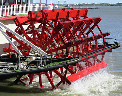 Photograph - Paddlewheel 4 by Randall Weidner
