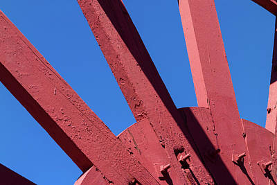 Photograph - Paddlewheel Spokes Eppleton Hall San Francisco  by David Smith