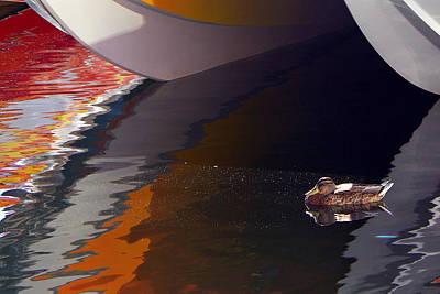 Paddling Among The Colours Art Print