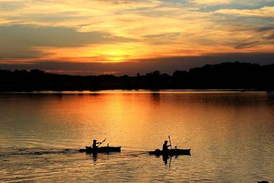 Photograph - Paddling Back To Camp by J Laughlin