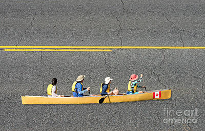Photograph - Paddling In The Fast Lane by Les Palenik