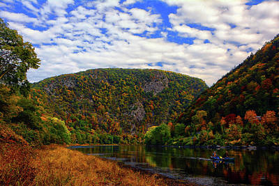 Photograph - Paddling The Delaware Water Gap by Raymond Salani III
