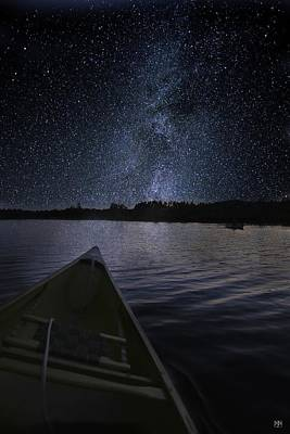 Photograph - Paddling The Milky Way by John Meader