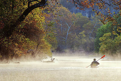 Photograph - Paddling Through Mist by Robert Charity