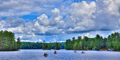 Photograph - Paddling White Lake by David Patterson