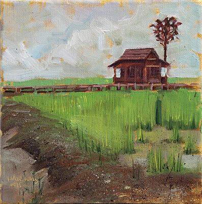Rice Paddy Painting - Paddy Field, Taman Botani by Haze Long