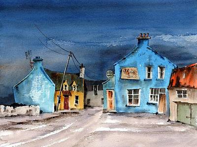 Painting - F 907  Paddy Macks In Castlegregory, Kerry by Val Byrne