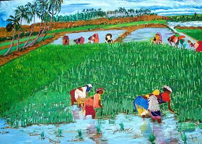 Paddy Planters Art Print by Narayan Iyer